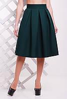 Темно-зеленая юбка колокол