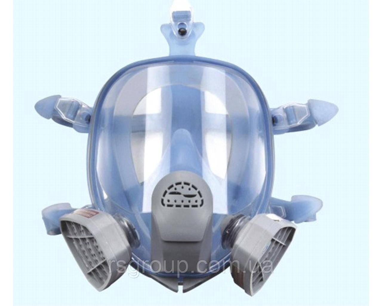 Полнолицевая маска Химик-3  под байонет в силиконовой оправе (аналог 3М 6700, 3М 6800 3M 6900)