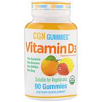 California Gold Nutrition, Органическое происхождение, пастилки с витамином D3, не содержат желатина и клейковины, смесь ароматов ягод и фруктов, 90