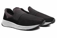 Туфли спорт Mida натуральная замша, цвет черный