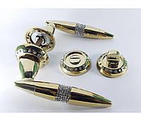 Ручка межкомнатная USK c камнями (золото), фото 1