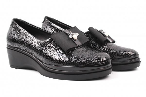 Туфли комфорт Missy лаковая натуральная кожа, цвет черный