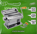 Лапшерезка тестораскатка - Green Point Pasta Machine GP-381, фото 4