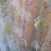 Тюль гардина органза рисунок печать