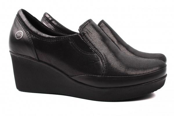 Туфли комфорт Mumin Dulun натуральный сатин, цвет черный