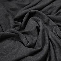 Трикотаж футер двунитка темно-серый меланж
