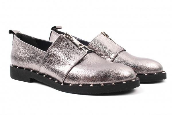 Туфли комфорт Toto Family натуральная кожа, цвет серебро