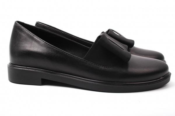 Туфли комфорт женские на низком ходу Olli натуральная кожа, цвет черный, Украина.
