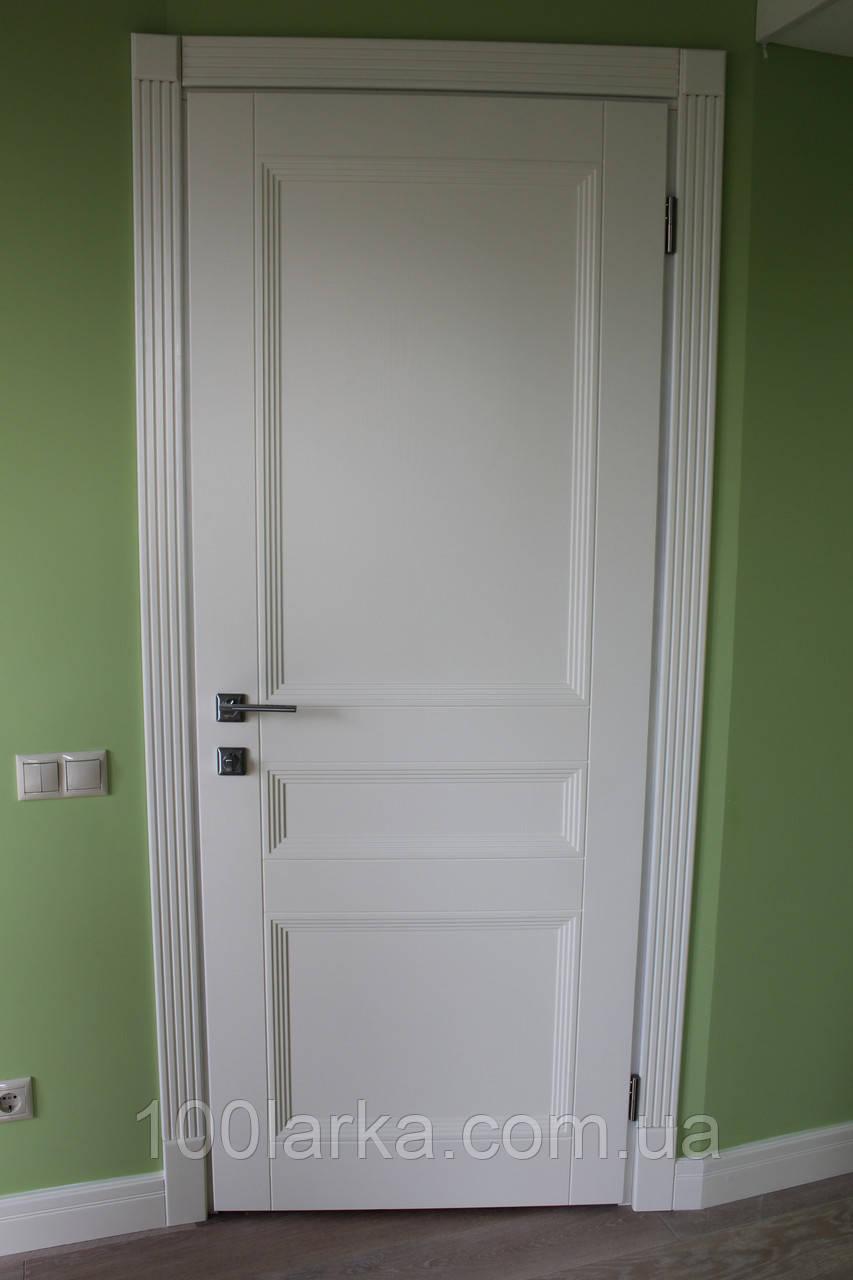 Міжкімнатні дерев'яні двері М-22/3 колір RAL-7047