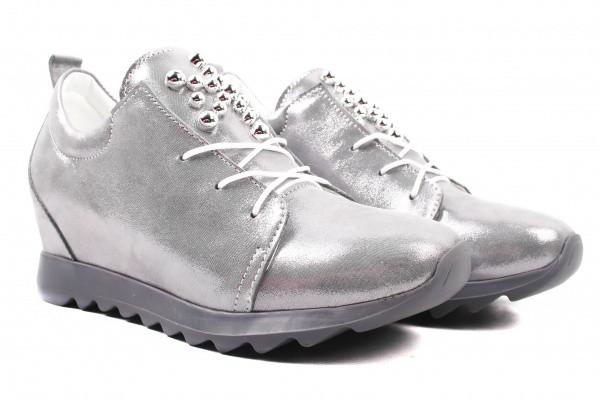 Туфли комфорт Olli натуральный сатин, цвет серый