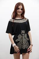 Модная женская туника с красивым рисунком