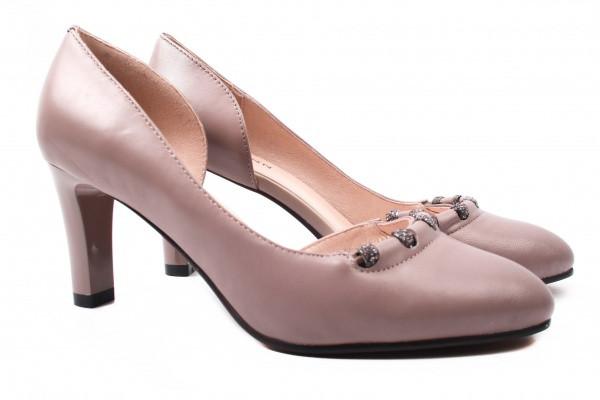 Туфли женские на каблуке Polann натуральная кожа, цвет визон