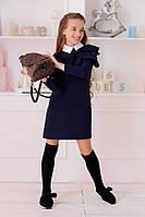 """Прямое школьное платье для девочки """"SALLY"""" с контрастным воротничком"""
