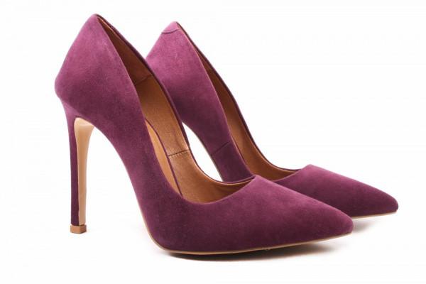 Лодочки Roberto Netti натуральная замша, цвет фиолетовый