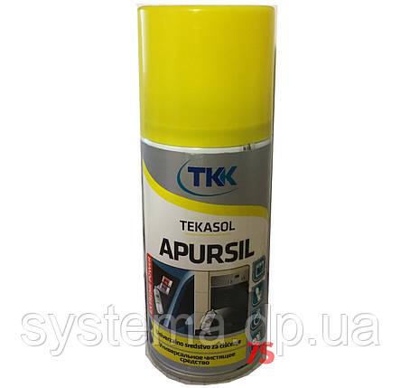 Очищающий аэрозоль TKK Tekasol Apursil - очиститель остатков скотча, клея, наклеек, жира 150 мл, фото 2