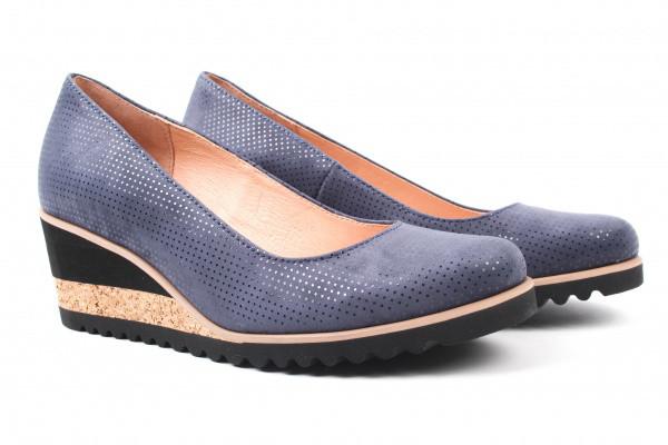Туфли комфорт Sempre нубук, цвет синий