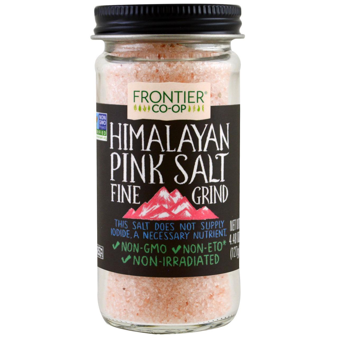 Frontier Natural Products, Гималайская розовая соль, мелкого помола, 127 г (4.48 oz)