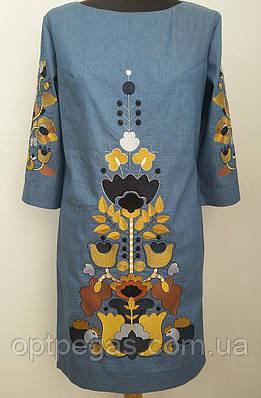 Жіноче плаття джинсове плаття вишите гладдю 50  продажа cdc878fcab45b