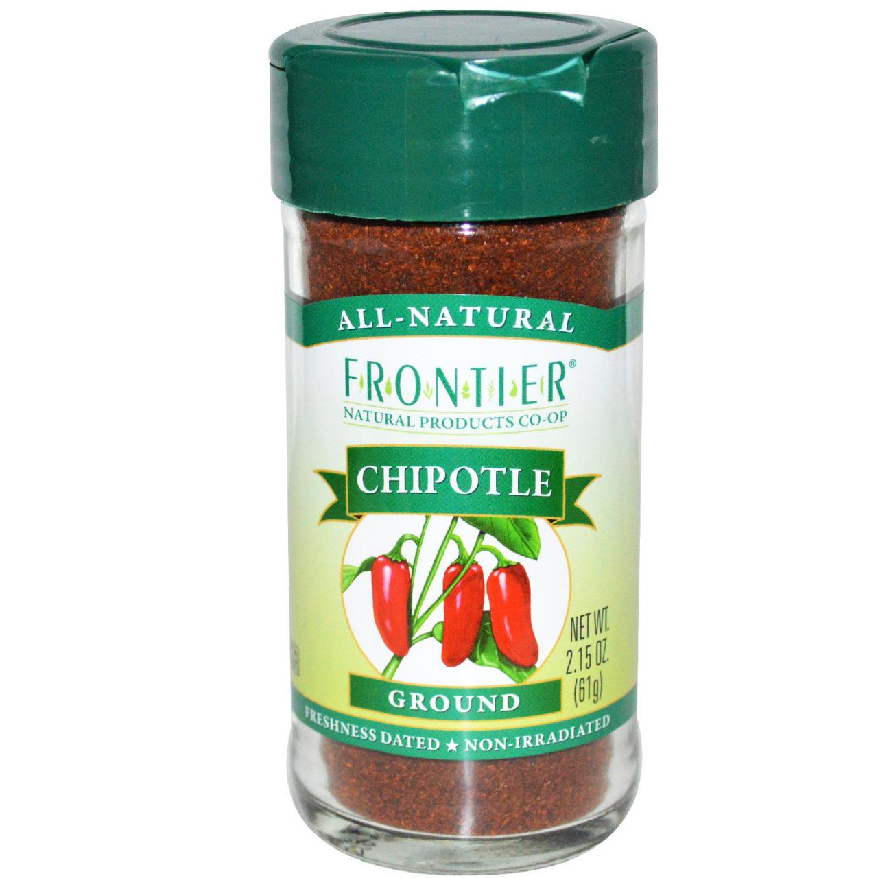 Frontier Natural Products, Ground Chipotle, Smoked Red Jalapenos, 2.15 oz (61 g)