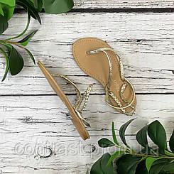"""Легкие золотистые сандалии в стиле """"бохо""""  SH1831054"""