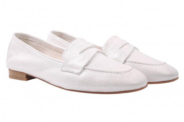 Туфли женские на низком ходу, натуральный сатин, цвет белый, Tucino Турция.