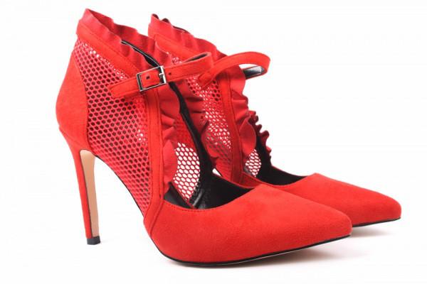 Туфли лодочки Vensi эко замш, цвет красный (37р.)