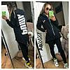 Женский спортивный костюм на змейке с капюшоном / двунитка / Украина 14-480