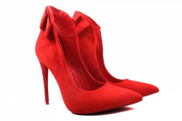 Лодочки Vices эко замш, цвет красный