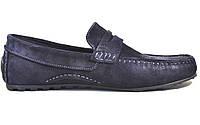 Мужские мокасины синее замшевые летние обувь больших размеров ETHEREAL BS Classic Blu Vel by Rosso Avangard, фото 1