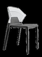 Стул Papatya Ego-S антрацит сиденье, верх прозрачно-чистый, фото 1