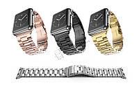 Металлический ремешок Metall 3-bead Apple Watch 38/42 браслет металл