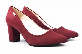 Туфли на каблуке Zan Zara эко замш, цвет бордо