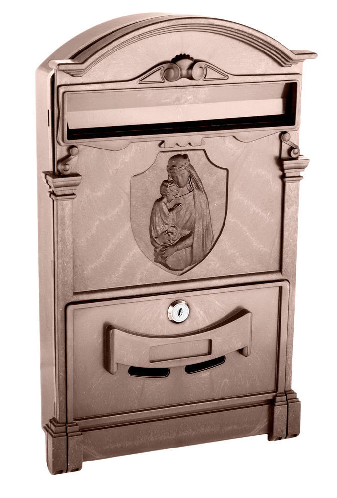 Почтовы ящик   цвет коричневый Дева Мария