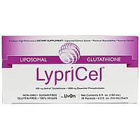 LypriCel, Липосомальный глуютатион GSH, 30 упаковок, 5,4 мл (0,2 жидкие унции) каждая