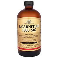 Solgar, L-карнитин, естественный лимонный вкус, 1500 мг, 16 жидк. унц. (473 мл), фото 1