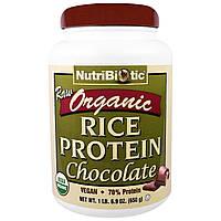 NutriBiotic, Органический необработанный рисовый белок, шоколад, 650 г (6,9 унц.)