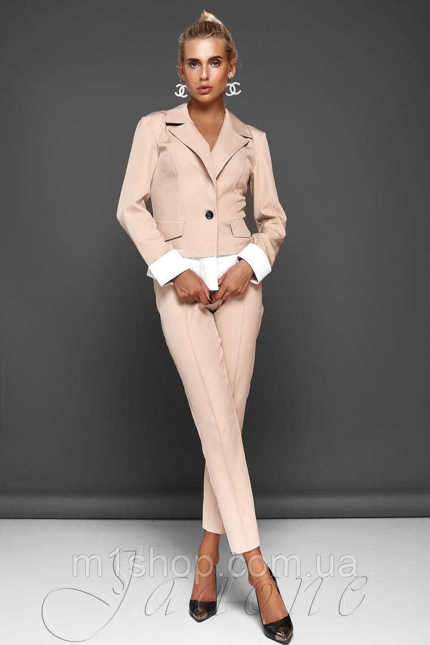 Женский костюм с жакетом и укороченными брюками (Мирей jd)