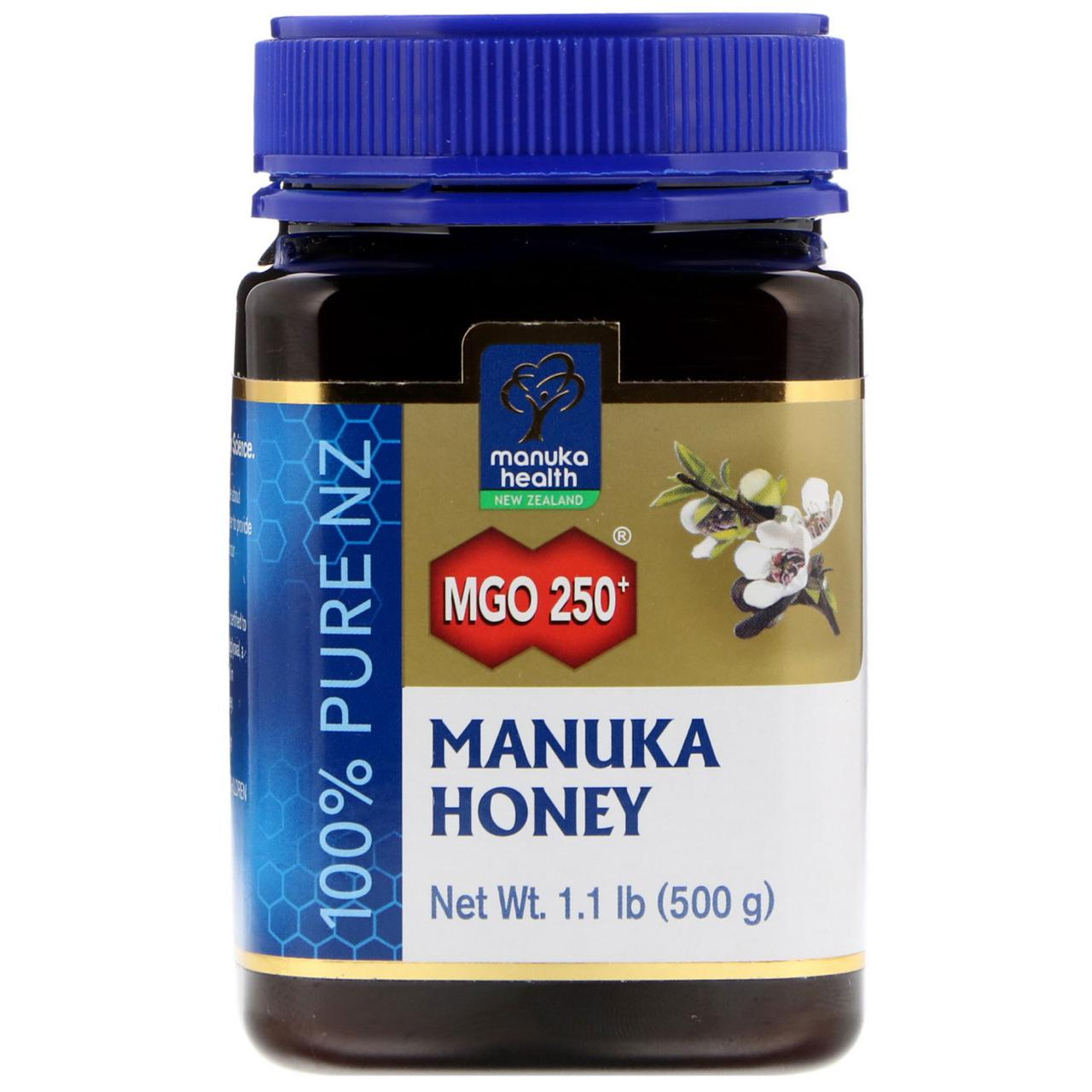 Manuka Health, Лесной мёд манука, MGO 250+, 1,1 фунта (500 г)