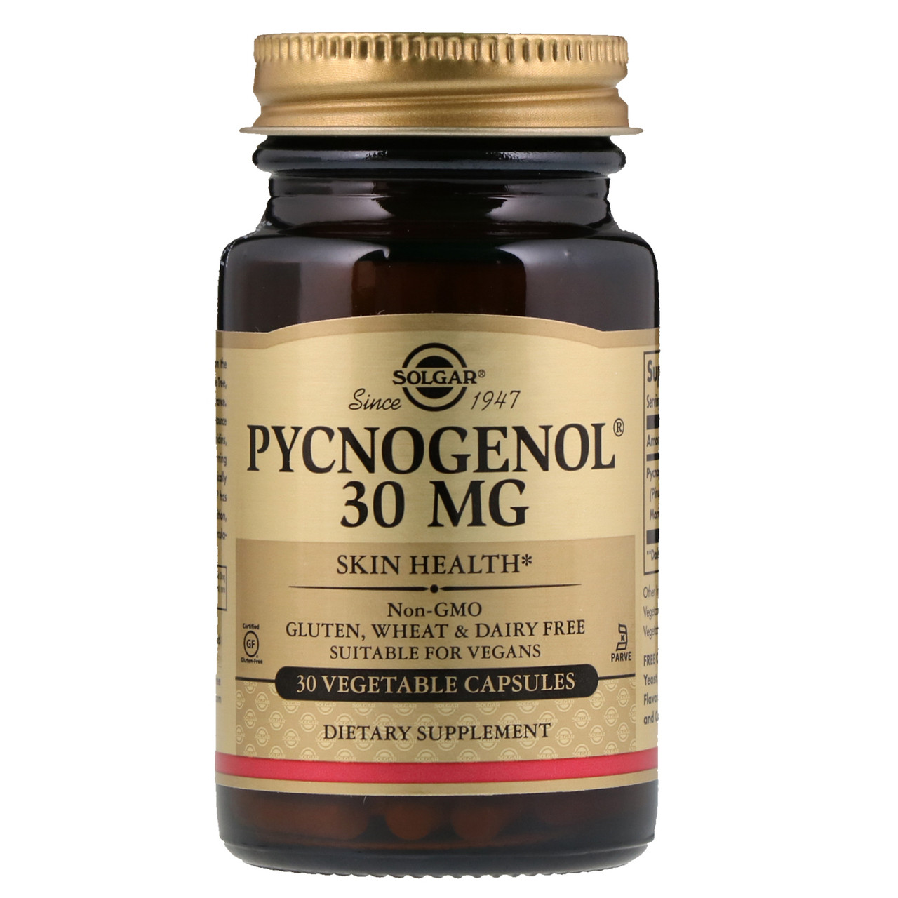 Solgar, Пикногенол, 30 мг, 30 капсул
