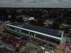 Солнечная электростанция номинальной мощностью 30 кВт на крыше нового современного детского садика в Обуховке 2