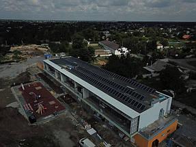 Солнечная электростанция номинальной мощностью 30 кВт на крыше нового современного детского садика в Обуховке 3