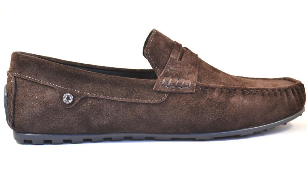 Мужские мокасины коричневые замшевые ETHEREAL Classic Brown Vel by Rosso Avangard