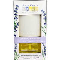Aura Cacia, Электрический ароматизатор для воздуха, Расслабляющая Лаванда 0.47 жидких (14 мл)