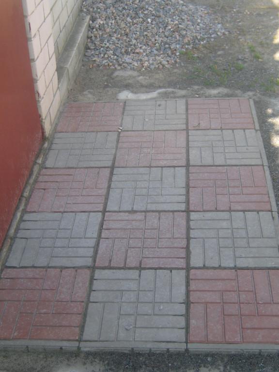Укладка  полимер-песчаной тротуарной плитки 4