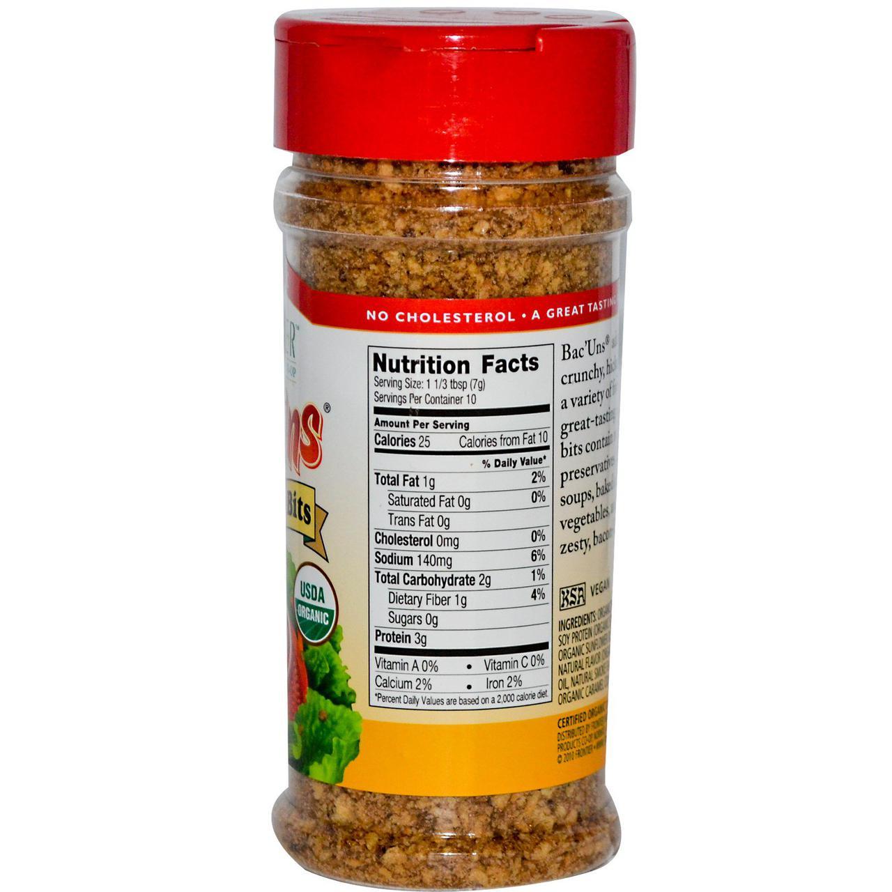 Frontier Natural Products, Органический бекон, приправа для вегетарианцев, 2,47 унции (70 г)