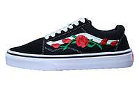 Мужские кеды Vans Old Skool Art Roses Black/White