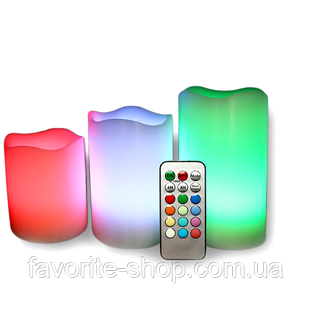 Ночник 3 свечи Luma Candles Color Changing