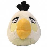 Мягкая игрушка - ANGRY BIRDS (птичка белая, озвуч., 12см)