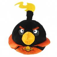 Мягкая игрушка - ANGRY BIRDS SPACE (птичка черная, озвуч., 20см)