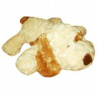 Мягкая игрушка - СОБАКА (белая, рыжее ухо, 48 см)